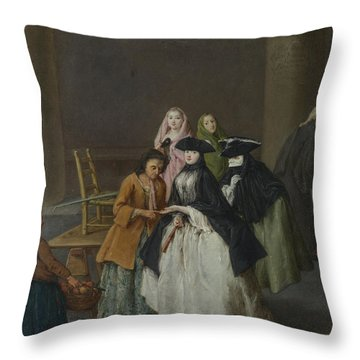 A Fortune Teller At Venice Throw Pillow