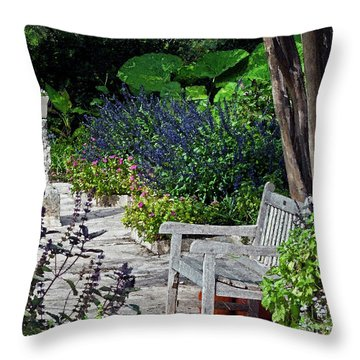 A Garden Seat Throw Pillow