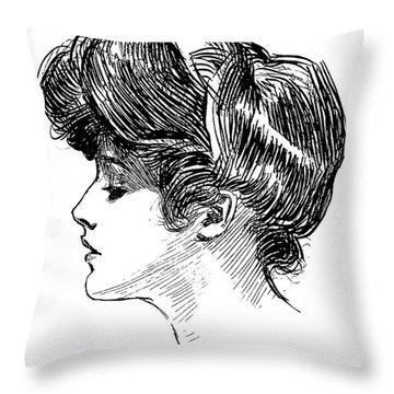 A Gibson Girl Throw Pillow