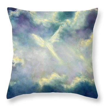 A Gift From Heaven Throw Pillow by Marina Petro