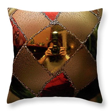 Throw Pillow featuring the photograph A Photographer's Christmas Greeting by Trish Mistric