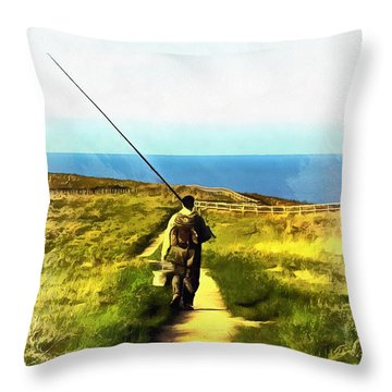 A Plaice To Fish Throw Pillow