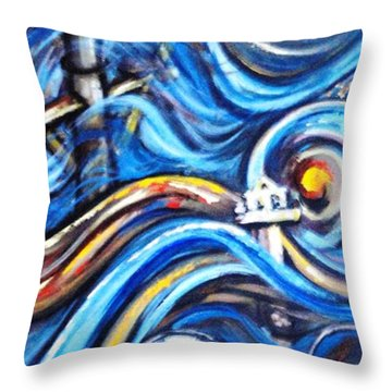 Throw Pillow featuring the painting A Ray Of Hope 4 by Harsh Malik