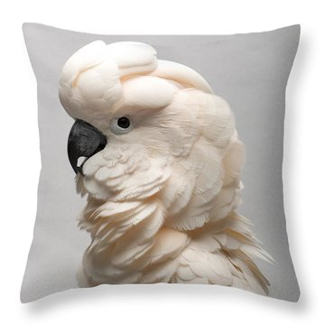A Salmon-crested Cockatoo Throw Pillow