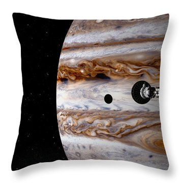 Throw Pillow featuring the digital art A Sense Of Scale by David Robinson