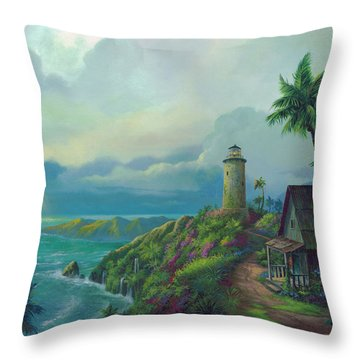 A Small Patch Of Heaven Throw Pillow by Michael Humphries