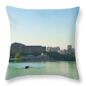 Throw Pillow featuring the photograph A Spring Morning In Philadelphia by Bill Cannon