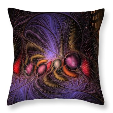 Throw Pillow featuring the digital art A Student Of Time by NirvanaBlues