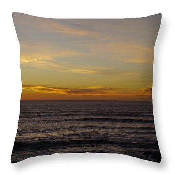 Golden Ocean Throw Pillow