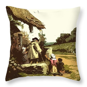 A Walk With The Grand Kids Throw Pillow
