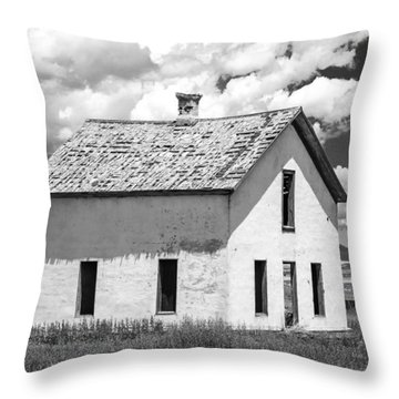 Throw Pillow featuring the photograph Abandoned by Colleen Coccia