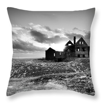 Abandoned Farm On The Snaefellsnes Peninsula Throw Pillow