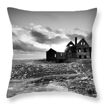 Abandoned Farm On The Snaefellsnes Peninsula Throw Pillow