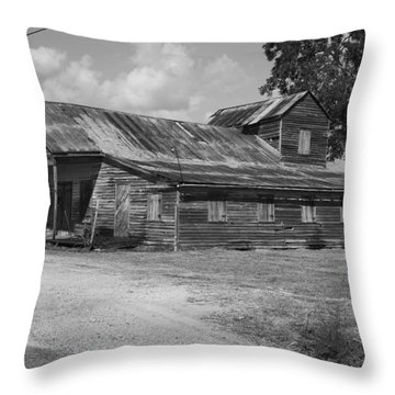 Abandoned Grocery Store Throw Pillow