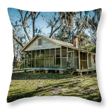 Abandoned House Old Cahawba Throw Pillow by Phillip Burrow
