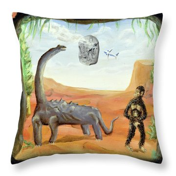 Abiogenesis Throw Pillow