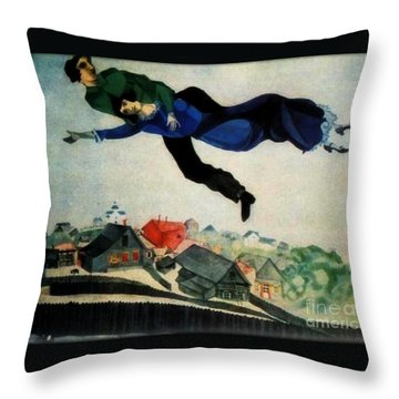 Above The Town Throw Pillow by Chagall