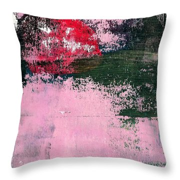 Throw Pillow featuring the mixed media Abstract 1 by Lisa Noneman