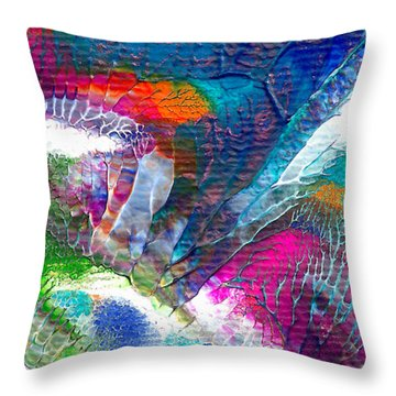 Abstract 10115a Throw Pillow