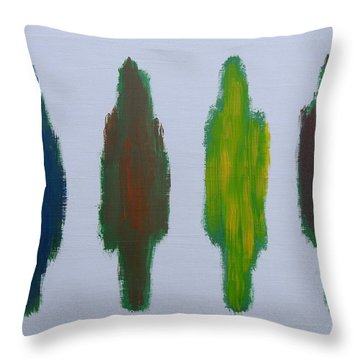 Abstract 199 Throw Pillow by Patrick J Murphy