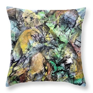 Abstract #331 - Gone With The Wind Throw Pillow