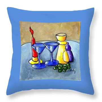 Grapes N Candles Throw Pillow