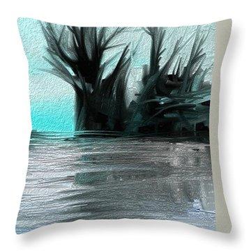 Throw Pillow featuring the digital art Art Abstract by Sheila Mcdonald