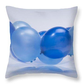 Abstract Balloon Throw Pillow by Setsiri Silapasuwanchai