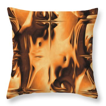 Abstract Breasts By Mb Throw Pillow
