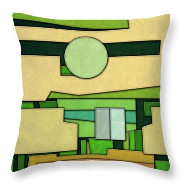 Abstract Cubist Throw Pillow