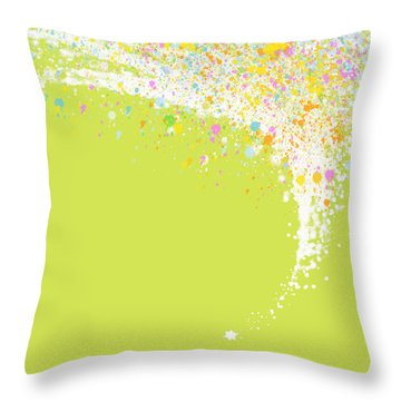 Abstract Curved Throw Pillow