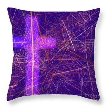 Abstract Easter Theme Throw Pillow