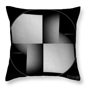 Throw Pillow featuring the photograph Abstract Female Nude by Jack Dillhunt