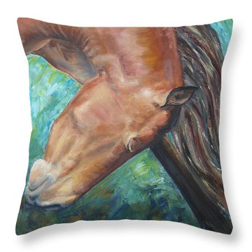 Abstract Horse One Throw Pillow