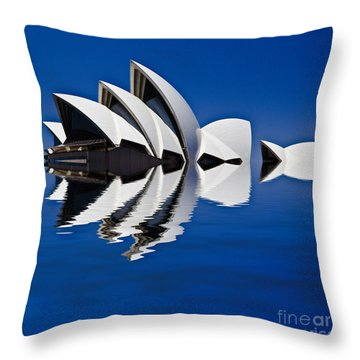 Abstract Of Sydney Opera House Throw Pillow by Avalon Fine Art Photography