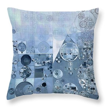 Abstract Painting - Light Steel Blue Throw Pillow