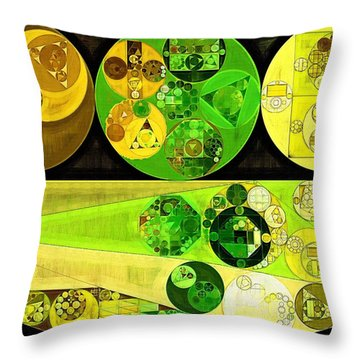 Throw Pillow featuring the digital art Abstract Painting - Starship by Vitaliy Gladkiy