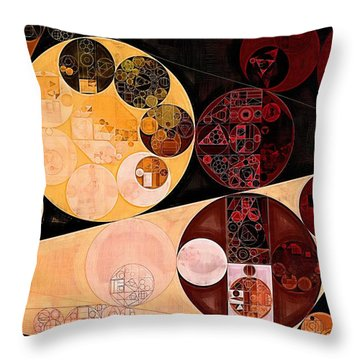 Throw Pillow featuring the digital art Abstract Painting - Tacao by Vitaliy Gladkiy