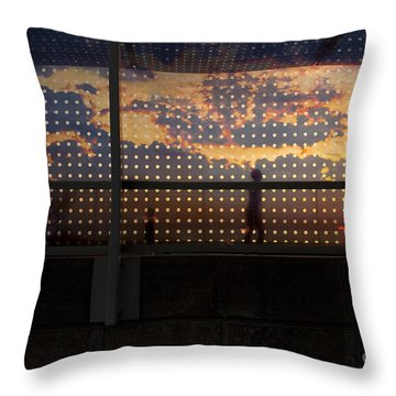 Abstract Silhouettes Throw Pillow