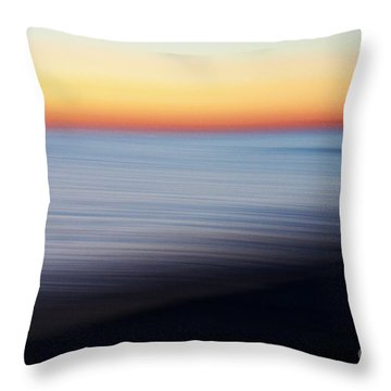 Abstract Sky And Water Throw Pillow