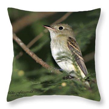Acadian Flycatcher Throw Pillow