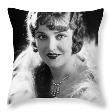 Actress Agnes Ayres Throw Pillow by Underwood Archives