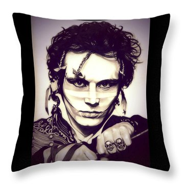 Adam Ant Throw Pillow by Fred Larucci