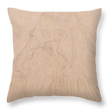 Adele Bloch Bauer Throw Pillow by Gustav Klimt