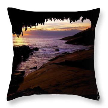 Admiral's  Arch Sunset Throw Pillow by Mike Dawson