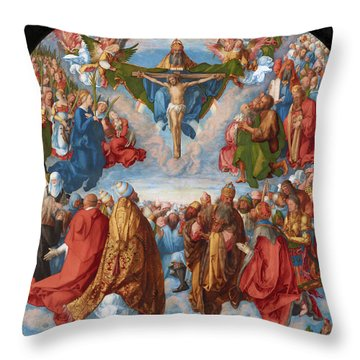 Adoration Of The Trinity  Throw Pillow