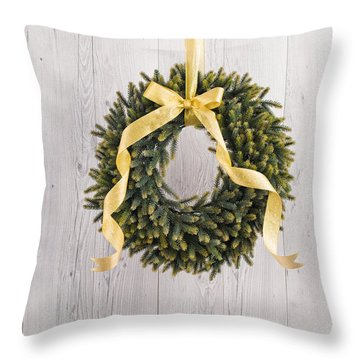 Throw Pillow featuring the photograph Advents Wreath by Ulrich Schade