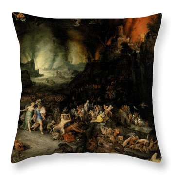 Aeneas And Sibyl In The Underworld Throw Pillow