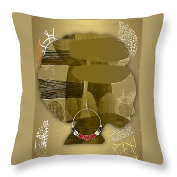 African Queen Throw Pillow by Marvin Blaine