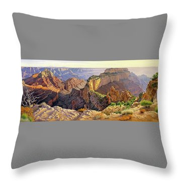 Afternoon-north Rim Throw Pillow by Paul Krapf
